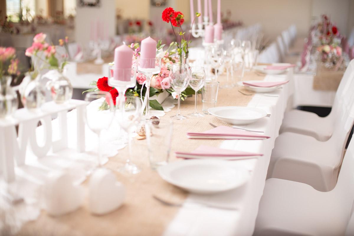 Hochzeit Vintage Altrosa Eventhalle Weitblick